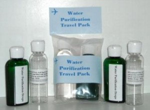 Water Purification Drops Travel Kits 3 sets of water purifier 2 oz bottles