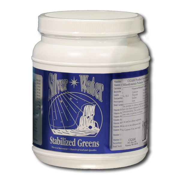 Stabilized Greens from Silver Water Products